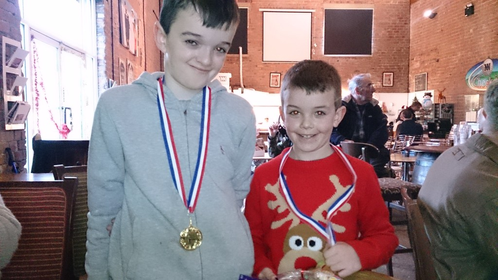 Alexander and Christian turkey shoot medalists